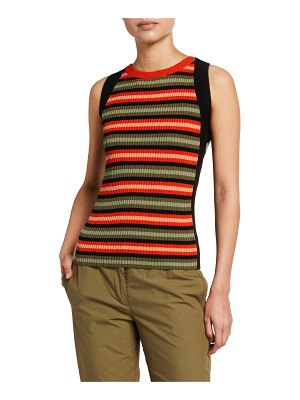 Akris punto Striped Merino Wool Sweater