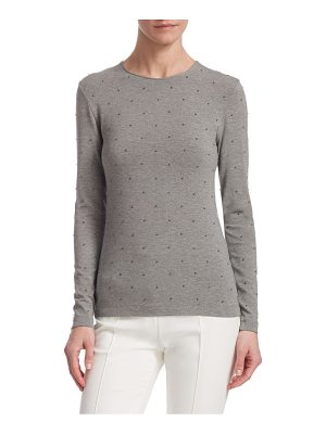 Akris punto stud long-sleeve top