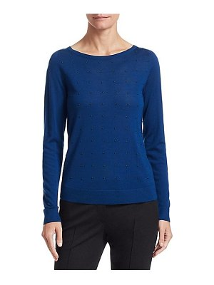 Akris punto studded wool crewneck sweater