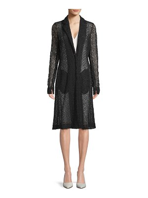 Akris punto Textured Sheer Longline Jacket