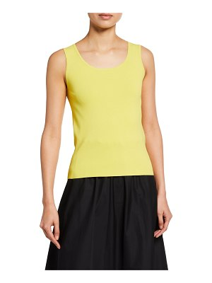 Akris punto Viscose-Knit Fitted Tank Top