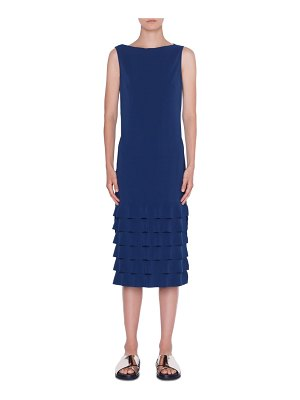 Akris punto wave hem midi dress