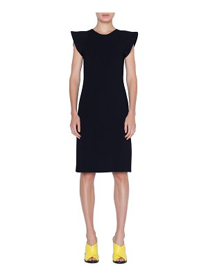 Akris punto Wave-Shoulder Knit Dress