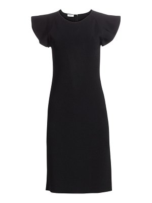 Akris punto wave shoulder knit dress