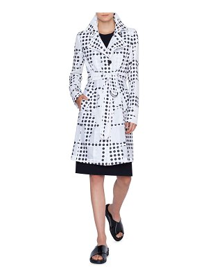 Akris punto Window-Dot Trench Coat