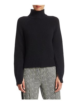 Akris punto wool zip-sleeve turtleneck sweater