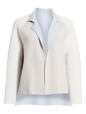 Akris reversible double face cashmere knit jacket