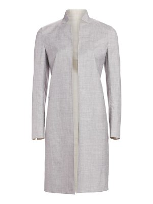 Akris reversible wool & silk long jacket