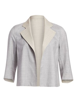 Akris reversible wool & silk short jacket