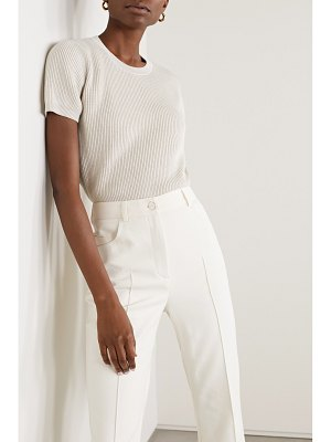 Akris ribbed cashmere and silk-blend sweater