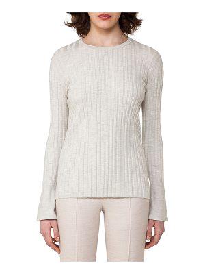 Akris Ribbed Cashmere-Blend Sweater