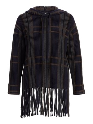 Akris ribbed cashmere & silk hooded sweater