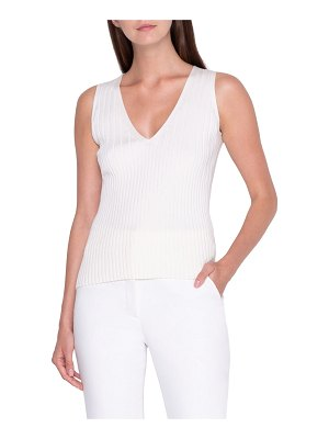Akris Ribbed Stretch-Silk Sweater