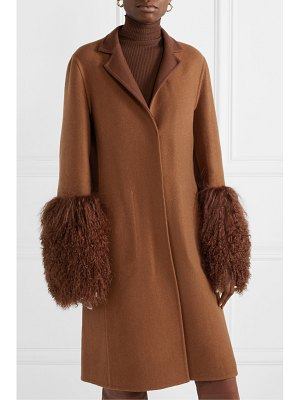 Akris shearling-trimmed cashmere coat