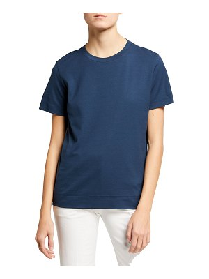Akris Short-Sleeve Round-Neck Cotton Tee