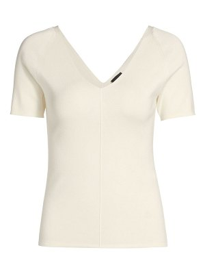 Akris silk stretch v-neck knit top