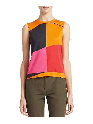 Akris sleeveless cashmere silk sunrise tank