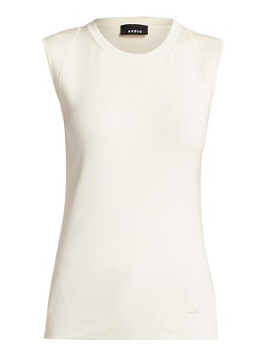 Akris sleeveless stretch silk tank top