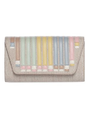 Akris small anouk envelope appliqué canvas clutch