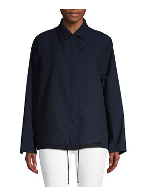 Akris Spread Collar Wool-Blend Jacket