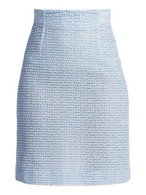 Akris st gallen embroidered pencil skirt