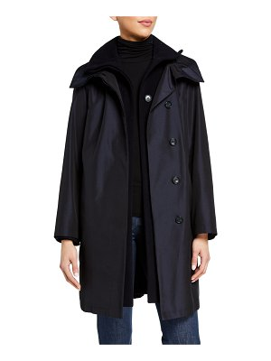 Akris Storm System Double-Breasted Coat