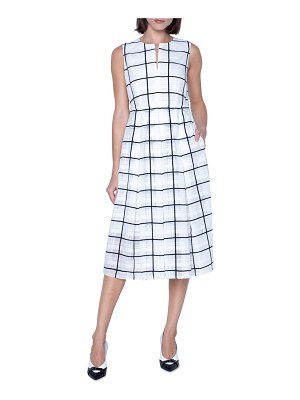 Akris tonal check midi dress