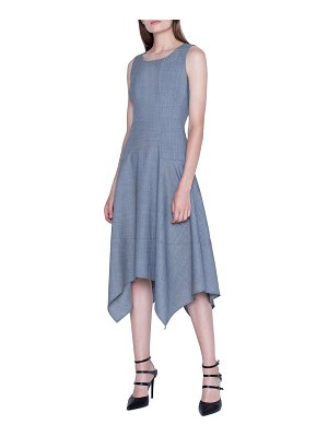 Akris Twill Handkerchief Midi Dress