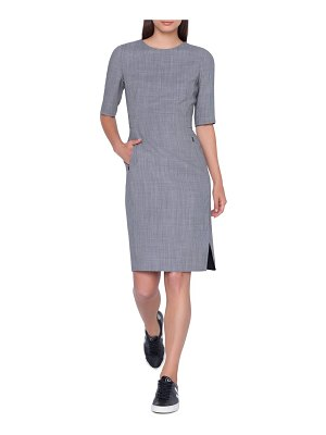 Akris wool blend sheath dress