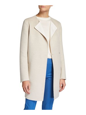 Akris Wool-Cashmere Double-Breasted Coat