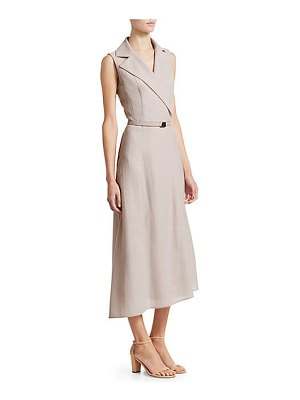 Akris wrap effect sleeveless midi dress