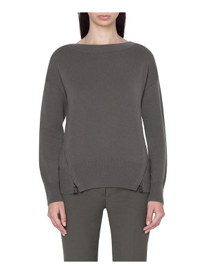 Akris zip detail cashmere sweater