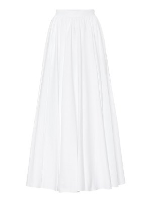 Alaïa cotton-pliss㩠midi skirt