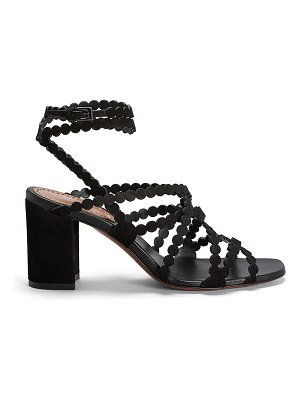 ALAIA Dot Strappy Leather Sandals