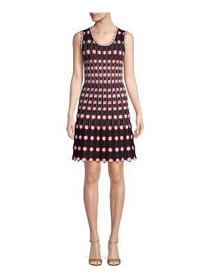 ALAIA Embroidered Floral A-Line Dress
