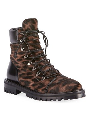 ALAIA Leopard-Print Pony Hair Booties