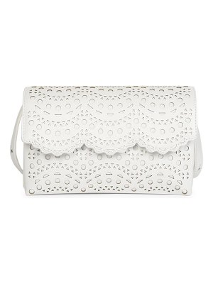 Alaïa lulu lasercut leather shoulder bag