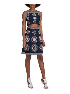 ALAIA Medallion Print Crop Top