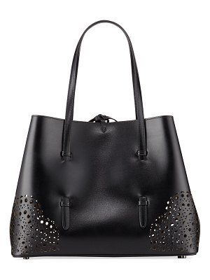 ALAIA New Small Lux Laser-Cut Tote Bag