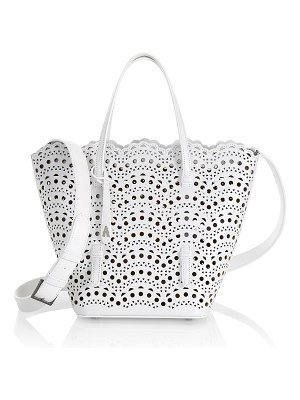 Alaïa nicole mini vivienne vague lasercut leather tote bag