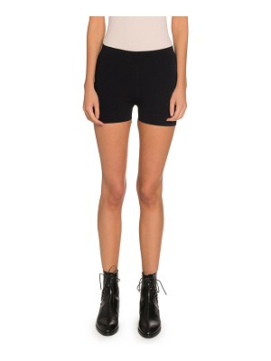 ALAIA Pull-On Stretch Biker Shorts