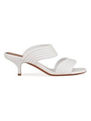 ALAIA Quilted Lambskin Slide Sandals