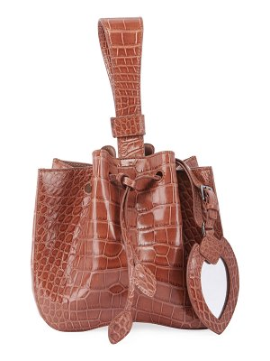ALAIA Rose Marie Alligator Bucket Bag