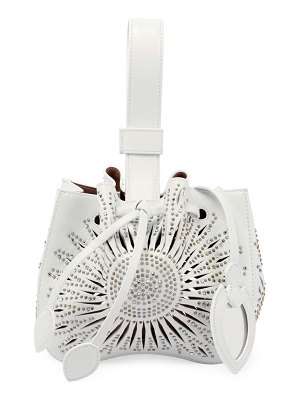 ALAIA Rose Marie Mini Tressor Bucket Bag