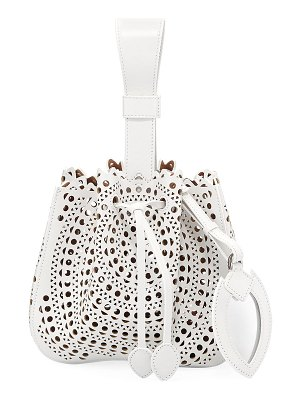 ALAIA Rose Marie Small Bucket Bag