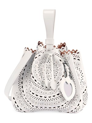 ALAIA Rose Marie Small Cutout Bucket Bag with Strap