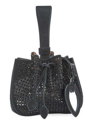 ALAIA Rose Marie Small Cutout Suede Bucket Bag