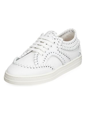 ALAIA Whipstitched Platform Sneakers