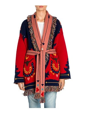 ALANUI good luck jacquard knit cashmere cardigan