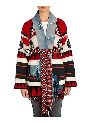 ALANUI new icon patch knit cashmere-blend kimono cardigan